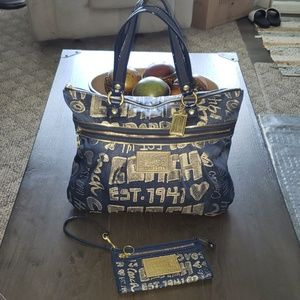 Coach Poppy Story Patch Glam Tote & Wallet Set